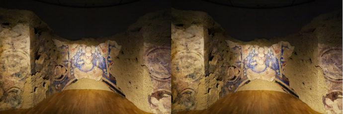 バーミヤンE窟仏龕及び天井壁画《青の弥勒》想定復元