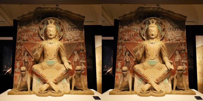 敦煌莫高窟第275窟 弥勒菩薩交脚像 再現(70%縮小、5 世紀、中国、スーパークローン文化財)