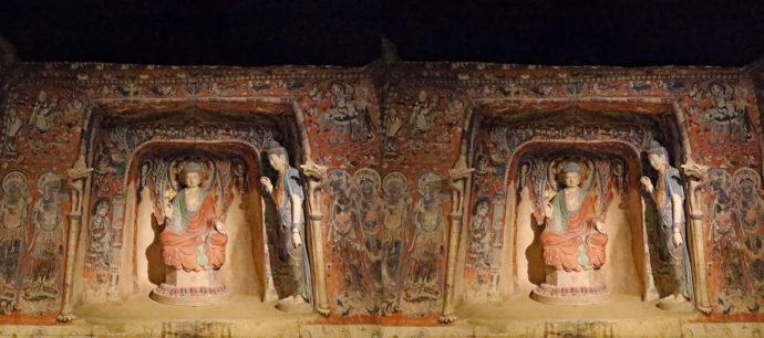 敦煌莫高窟第57窟 想定復元(7世紀、中国、スーパークローン文化財)