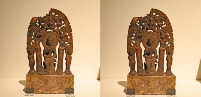 弥勒三尊像(557年、中国、白大理石・彩色)