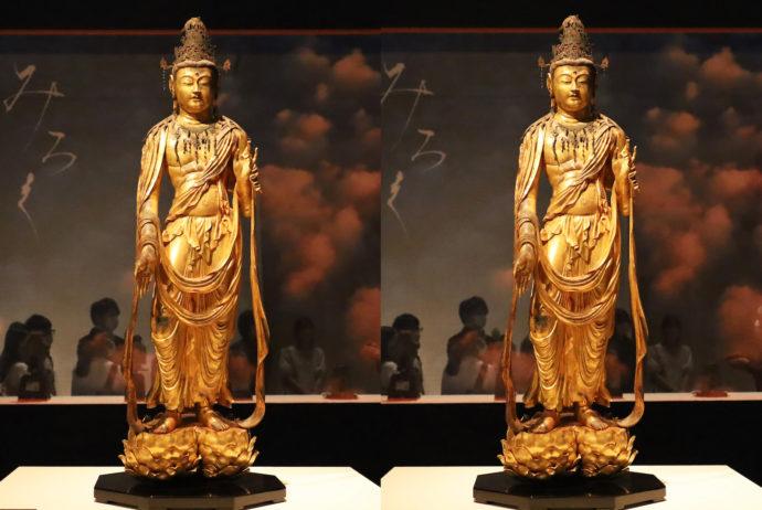 東大寺中性院弥勒菩薩立像 模刻(1190-1199年、日本、檜・漆箔)